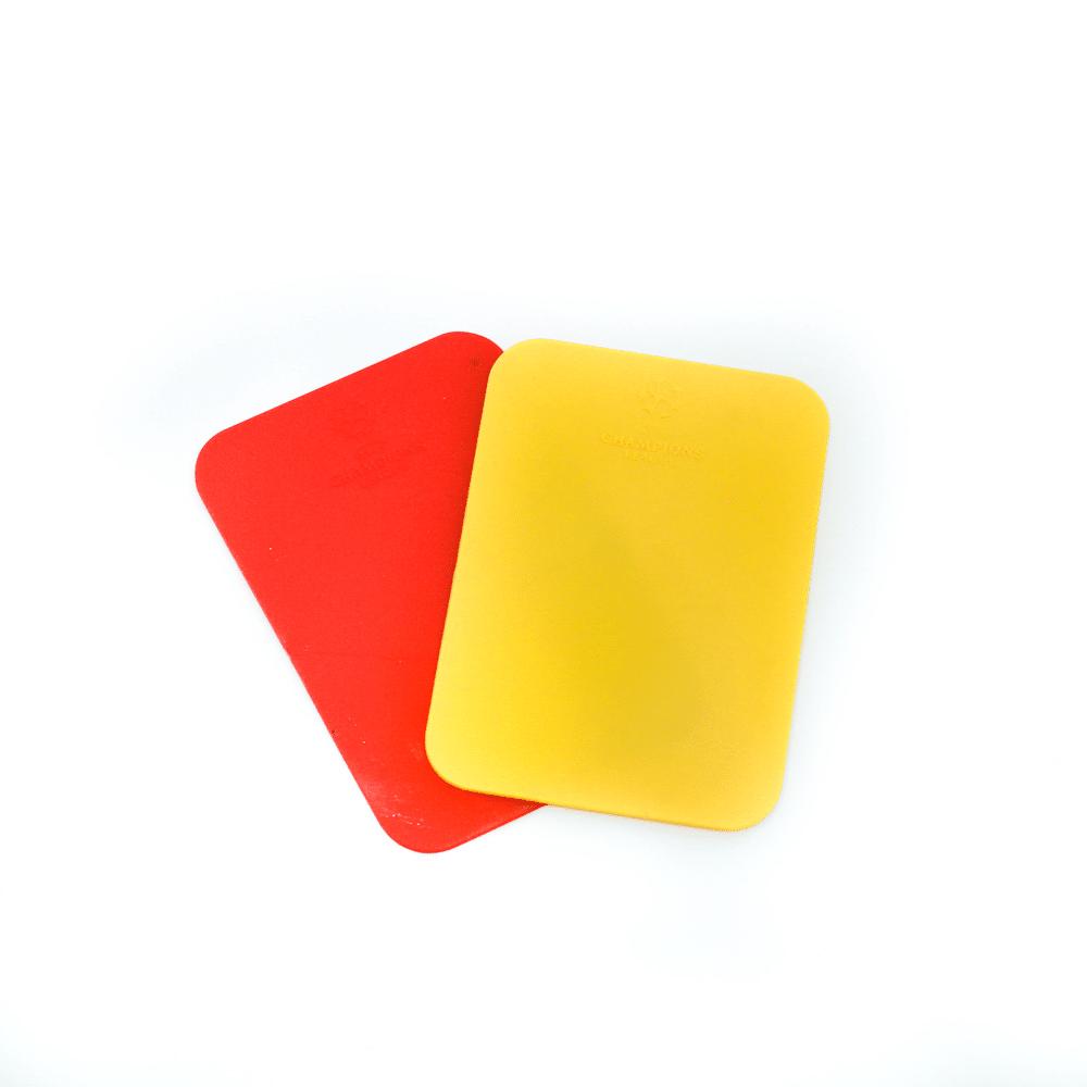 Tarjetas Arbitro Futbol Amarilla Y Roja